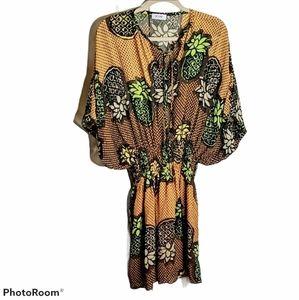 Moschino silk pineapple dress